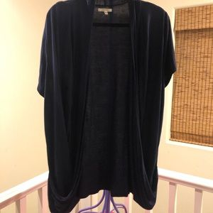 Maurices 2x navy short sleeve overpiece